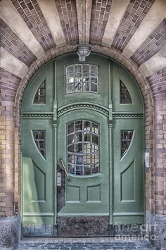 Green Door Art Deco Style Photograph by Antony McAulay - Green Door Art Deco Style Fine Art Prints and Posters for Sale