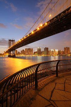 The Manhattan Bridge is a suspension bridge that crosses the East River in New York City