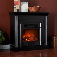 Wexford Petite Convertible Black Electric Fireplace at HSN.com.
