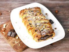 Tresse feuilletée au chocolat - Recette de cuisine Marmiton : une recette