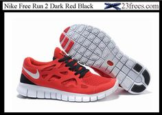 Nike Free Run 2 Womens Shoes Dark Red Black