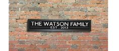Family Name Sign Bus Blind - 33 X 8 INCH Art Print - Made To Order Personlised Bespoke Sign Decorative Sign Choice of Color on Etsy, $26.23 AUD