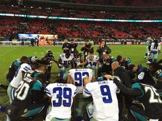 Bring it during the game, give thanks after. #DALvsJAX #DallasCowboys #CowboysLondon @JagsOfficial