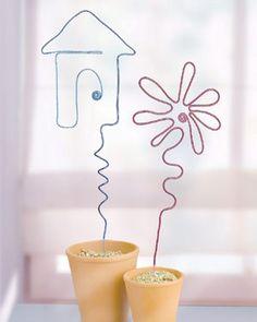 Blumenstecker aus Aludraht - ganz leicht selber gemacht