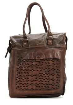 wardow.com - Tasche von Campomaggi, Lavata Shopper Leder braun 34 cm