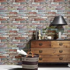 Erismann Wallpaper: Painted Aged Distressed Effect Authentic Wood Panel Wallpaper 7319-06: Details and purchase options from Lancashire Wallpaper and Paint