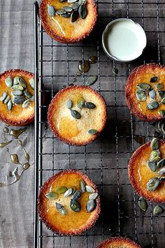 honey pumpkin seeds cakes.