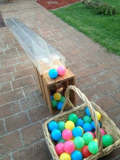 "Using old packaging as a tube to demonstrate gravity - from Puzzles Family Day Care ("",) Outdoor Learning Spaces, Outdoor Play Spaces, Outdoor Fun, Easter Activities, Outdoor Activities, Preschool Activities, Day Care Activities, Preschool Layout, Preschool Playground"