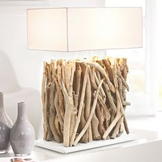twigs and branches base - lamp shade