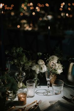 When designing an event space it is all about creating an ambience..  We love to incorporate elegant lighting in creative ways, from cascading tea light glass globes, hanging lanterns and tapered candles, each detail has the ability to transform an ordinary space into an enchanting and romantic setting.  Planning and Design @oliviabuckleyinternational Photography: @shaneshepherdweddings  #oliviabuckleyinternational #eventplanners #weddingplanner #eventmanagement #partyplanner… Romantic Dinner Setting, Romantic Dinners, Destination Wedding Planner, Wedding Planners, Table Setting Inspiration, Reception Design, Wedding Dinner, Hanging Lanterns, Dinner Sets