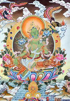 Artwork In Tibet green tara?