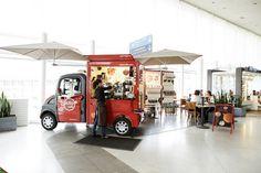 Alto Cafe mobile pop ups Paris Interesting idea- having mini food trucks INSIDE the mall to enable kiosk space food prep! PopUp Republic