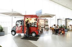 Alto Cafe mobile pop ups Paris  Interesting idea- having mini food trucks INSIDE the mall to enable kiosk space food prep! PopUp Republic