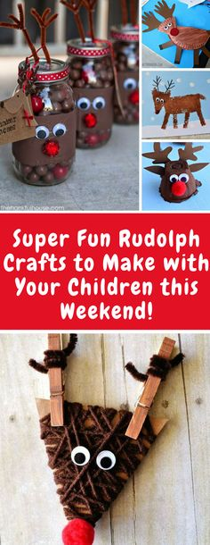 Reindeer Crafts for the Kids to Make this Christmas! Christmas wouldn't be complete without a reindeer or two so we've rounded up some EASY reindeer crafts which are perfect for fans of RUDOLPH!