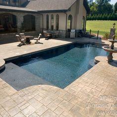 pool decking ideas concrete | pool design and pool ideas