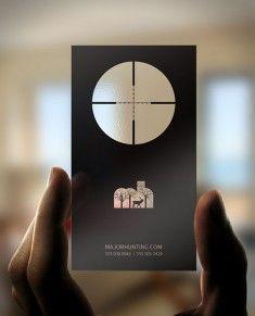 Major Hunting Business Card Design
