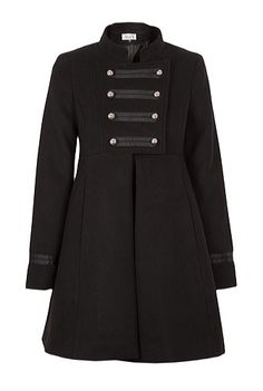 Palton negru din lana model Michael Jackson