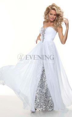 Stunning Ivory Sweetheart A Line Evening Dress(JT4E-0793)