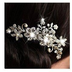 Bridal Wedding Flower Crystal Rhinestones Pearls Women Hair Clip Comb Generic http://www.amazon.com/dp/B00PGZ6CRO/ref=cm_sw_r_pi_dp_ufwMwb1EXKX6A