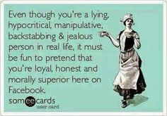 Even though U R a #jerk in #RealLife it must B #fun 2 #pretend U R #morally #superior on #facebook #LetsGetWordy