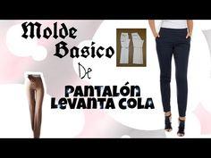 BASICO DE PANTALON ANATÓMICO LEVANTA COLA/BERTHA BURITICA CLASE # 12 - YouTube Diy Fashion, Fashion Dresses, Womens Fashion, Fashion Design, Sewing Tutorials, Sewing Projects, Blouse Dress, Diy Clothes, Jeans