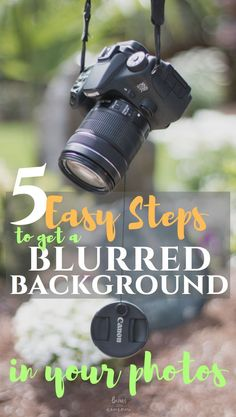 5 easy steps to get a blurred background in your photos - Photography Tips