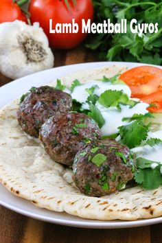 The Stay At Home Chef: Lamb Meatball Gyros