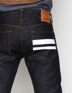 Momotaro Jeans by Japan Blue in Tight Straight with Paint