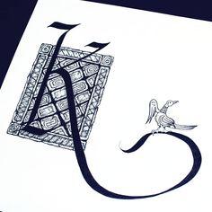 Леттеринг-марафон «Про буквы». Буквица К (рустика) #lettering_marathon #dina_ruzha_sigrlynn_marathon #lettering #handlettering #ruslettering #lettering_ru#design #handmadefont #fonts #typegang#typelove #typedesign #draw #ilovetype #sketch#type #art #handtype #леттеринг #русскийлеттеринг #буквица