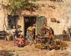 El zapatero remendón von Maximo Juderias Caballero (spanisch, 1867 - 1951)
