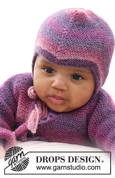 Sweet Evelina Hat / DROPS Baby 20-2 - Ingyenes kötésminták a DROPS Designtól Free Baby Patterns, Knitting Patterns Free, Knit Patterns, Free Knitting, Free Pattern, Drops Design, Knitted Hats Kids, Baby Hats Knitting, Baby Crafts To Make