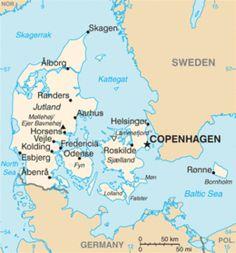 Regno di Danimarca - Mappa