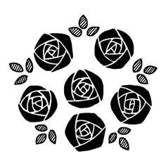 バラ8/バラ(薔薇)/花/無料【白黒イラスト素材】