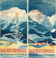 Bad Reichenhall zur Heilung und Erholung, circa 1933 (via Travel Ephemera Museum of Graphic Design from the 1920s and 1930s)