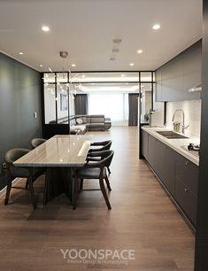 <윤스페이스디자인> 하남풍산센트레빌 35평형 아파트 - 모던빈티지 신혼집 : 네이버 블로그 Interior And Exterior, Interior Design, Natural Interior, D House, Workspace Design, Best Kitchen Designs, Amazing Spaces, Apartment Interior, Minimalist Home