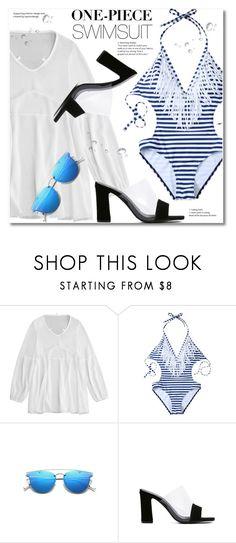 """One-Piece Swimsuit"" by svijetlana ❤ liked on Polyvore featuring coverUp, zaful and onepieseswimwear"