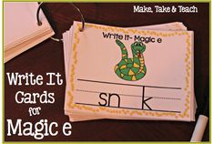 Write It Phonics Cards for Magic e and many other resources for teaching this rule
