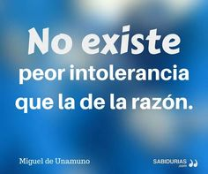 Intolerancia vs Razón (Unamuno).