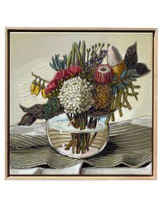 Flannel Flower, Australian Native Flowers, Australian Architecture, Artwork Images, Oil Painters, Art Festival, New Art, Still Life, Modern Art