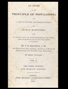 Essay on the Principle of Population - Signed - Thomas Robert Malthus - Bauman Rare Books