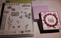 Thank You gift for coworkers/teachers/etc. Stamped in Stampin' UP! Rich Razzleberry ink on a Whisper White CS, layered on Rich Razzleberry CS. #Painted Petals#photopolymer#stamps set#2015#Q2Uniquedesigns♡