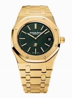 #AudemarsPiguet Royal Oak Extra-Thin The Hour Glass Yellow Gold #Watch
