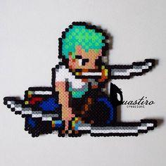 Zoro One Piece Hama mini beads by duastin_toyland