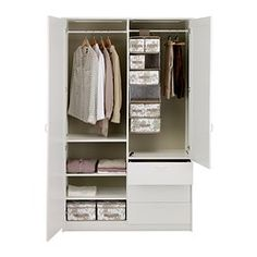 MUSKEN Wardrobe with 2 doors+3 drawers - IKEA $295