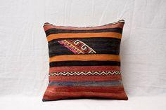 16 x 16 Throw Pillow Decorative Pillow Accent Pillow Bohemian Pillow Vintage Kilim Pillow Cover Old Cushion Retro Pillow - 01926-36 on Etsy, US$21.00