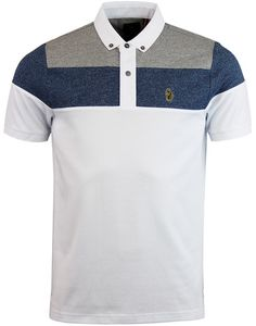 - Luke 1977 'Mickey Spacer' Sports Panel Polo shirt - Button Down ribbed collar with two button pla Polo Shirt Brands, Polo T Shirts, Camisa Polo, Tartan Men, Nike Wear, Polo Design, T Shorts, Mens Clothing Styles, Shirt Designs