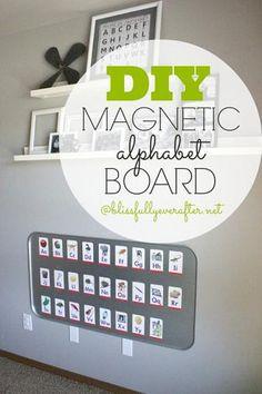 Magnetic Board DIY {Using an Oil Drip Pan}