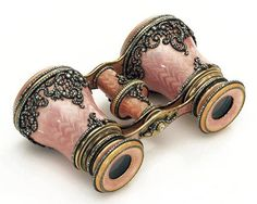 pink pearl finish on these opera glasses with rhinestone embellishments.