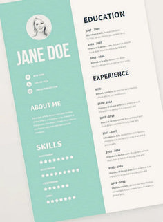Awesome Graphic Design Resume Inspiration If you like this cv template. Check others on my CV template board :) Thanks for sharing! Cv Simple, Simple Resume, Unique Resume, Graphic Resume, Graphic Design Resume, Cv Photoshop, Resume Designer, Artist Resume, Cv Website