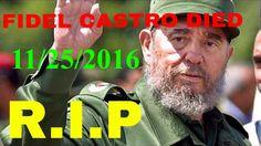 FORMER CUBAN PRESIDENT FIDEL CASTRO DEAD AT 90 | 11/25/2016 Fidel Castro Dead, Cuban, Presidents, Music, Youtube, Movie Posters, Musica, Musik, Film Poster